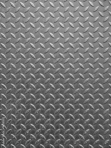 Fotografie, Obraz  Black and white vintage looking steel plate useful as background