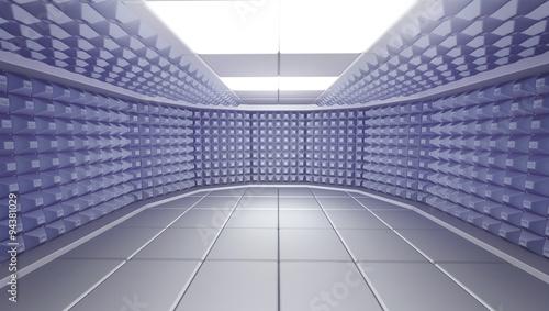 Valokuva  Soundproof room interior , 3d render image