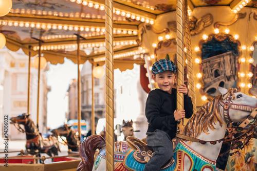 Fotografie, Obraz  Carousel ride