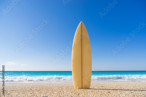 Surfboards awaiting fun in the sun Wallpaper Mural