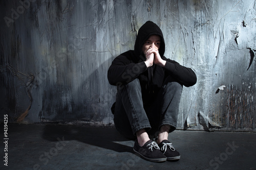 Fotografija  Concept for drug addiction and despair