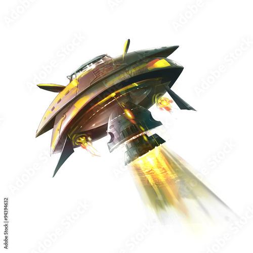 Photo  Illustration: The Terrible Huge Invading Alien Mother Ship