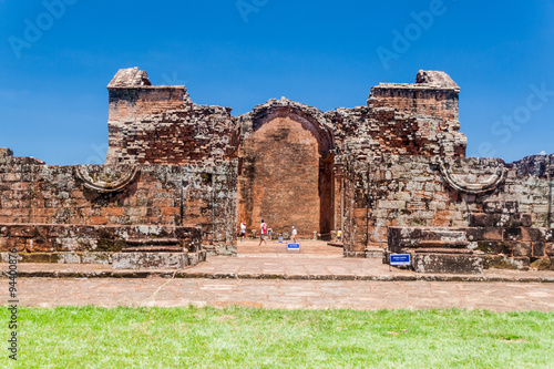 fototapeta na szkło Jesuit mission ruins in Trinidad, Paraguay
