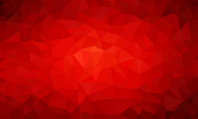 Low Poly Background Red 1