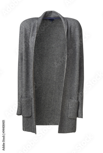 Fotografie, Tablou  womans coat isolated on white, clipping path