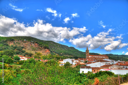 The pastoral village alajar in southern spain in hdr the main the pastoral village alajar in southern spain in hdr the main church with number of thecheapjerseys Image collections