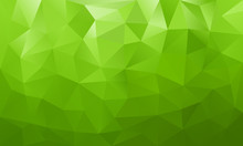 Low Poly Background Green 4