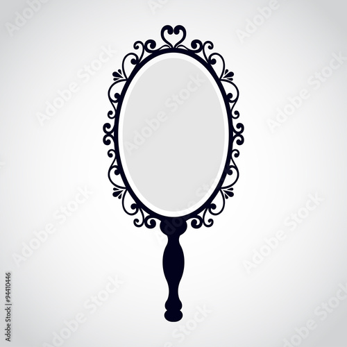 Fotografía  vintage mirror with a handle