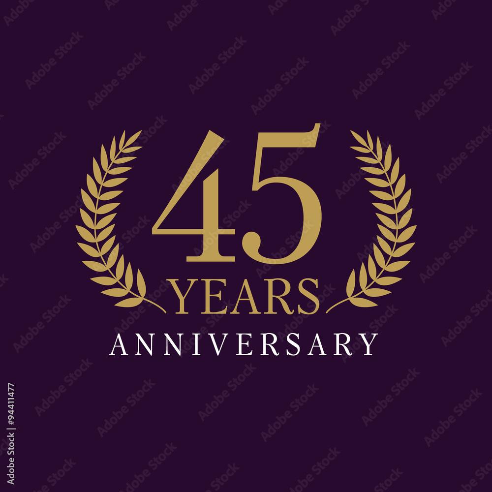 Photographie  45 anniversary royal logo