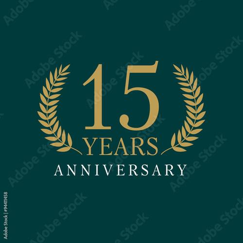 15 anniversary royal logo Tableau sur Toile
