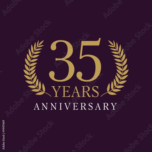 35 anniversary royal logo Tableau sur Toile