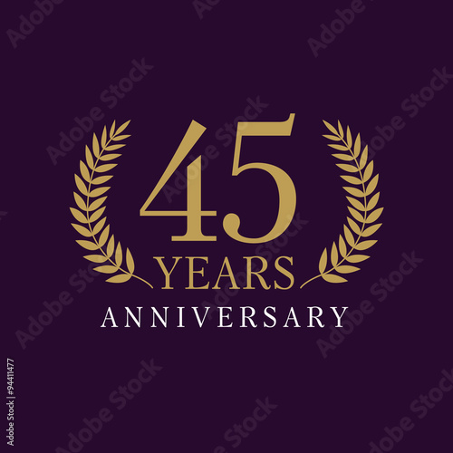 фотография  45 anniversary royal logo