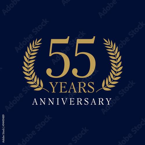 Photographie  55 anniversary royal logo