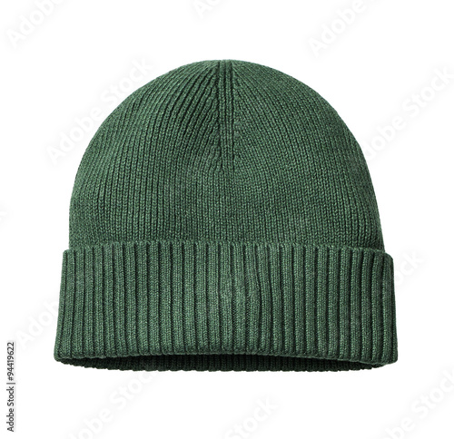 Fotografia  woolen cap isolated on white with clipping path