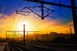Santiago de Compostela sunrise at train railways