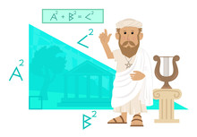 Pythagoras - Cute Cartoon Of P...