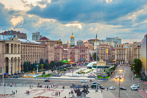 Staande foto Kiev Maidan Nezalezhnosti Square, Kyiv, Ukraine