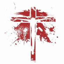 Crucifixion Icon. Jesus On The Cross.