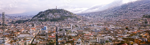 Recess Fitting South America Country Quito Panorama With Panecillo Statue