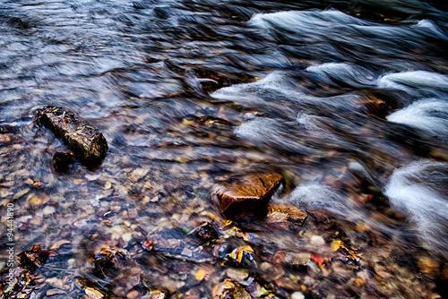 Fotografie, Obraz  mountain river stream in north carolina mountains