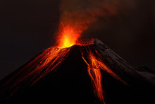 Volcano Lava Volcan Erupting F...
