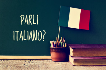 question parli italiano? do...