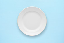 White Empty Plate Top View On ...