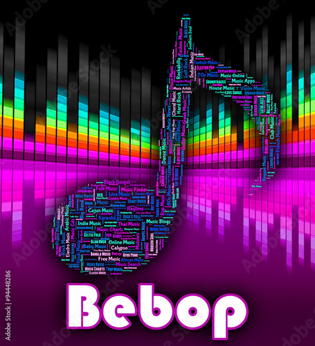 Bebop Music Means Sound Track And Audio Canvas Print