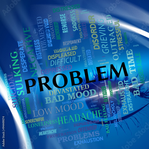 Problem Word Means Predicament Misadventure And Issue Poster