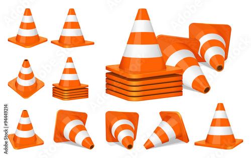 Fotografie, Obraz Traffic cones icon