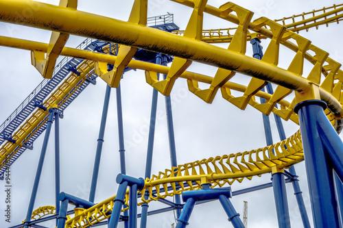 Amusement Park crazy rollercoaster rides at amusement park