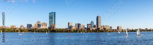 Fotografía Panorama view of Boston Skyline in summer