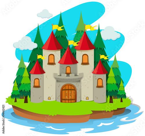 Papiers peints Chateau Castle on the island