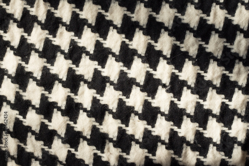 Photo  Black and white houndstooth checked fabric