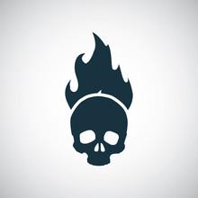 Skull Fire Icon