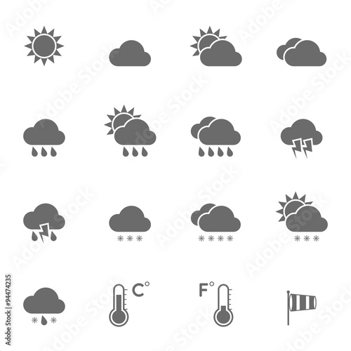 Fotografia, Obraz  Weather Icons Set