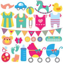 Baby Objects Clip Art Set