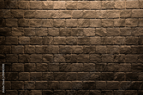 Foto op Plexiglas Brown stone wall texture background