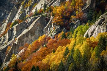 Panel Szklany Góry pareti in granito - val di Mello (Italy)