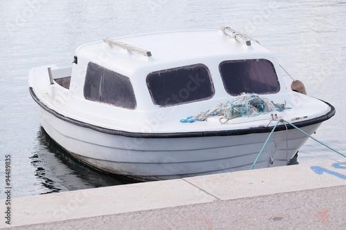 Fototapeta The image of an passenger motor boat obraz na płótnie
