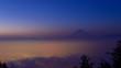 Kofu basin and Mt.Fuji at dawn