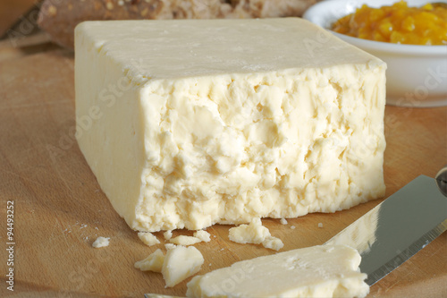 Canvas Cheshire cheese a traditional creamy crumbly English cheese
