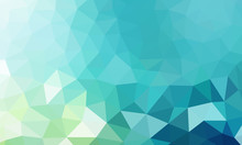 Low Poly Background Teal 2