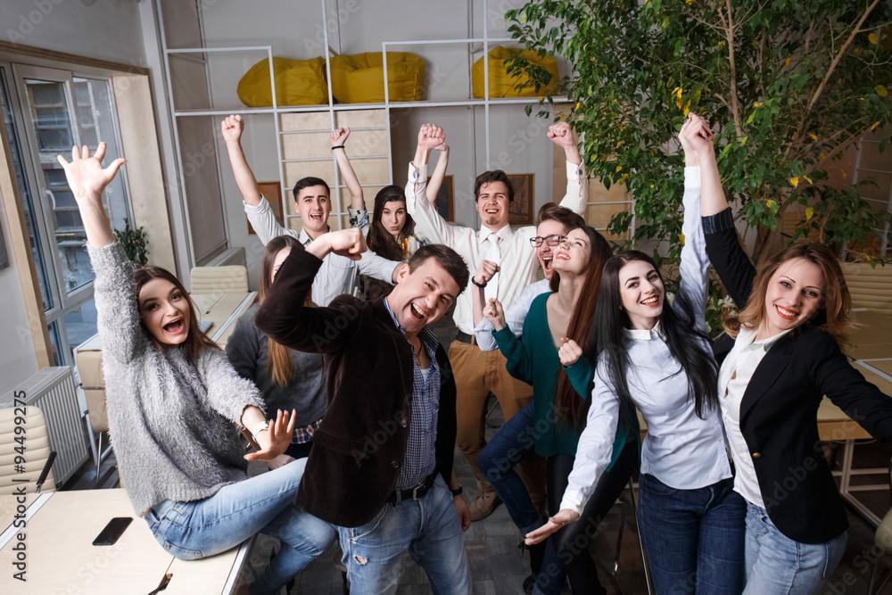 Fototapeta Business People Team Success Celebration Concept