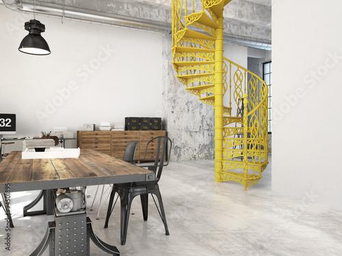 Valokuva  Spiral stairs. 3d rendering