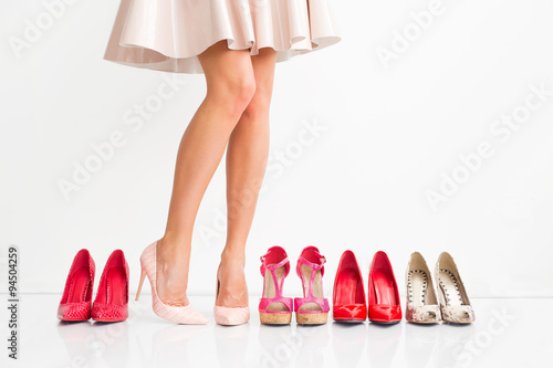 Woman choosing the right shoes