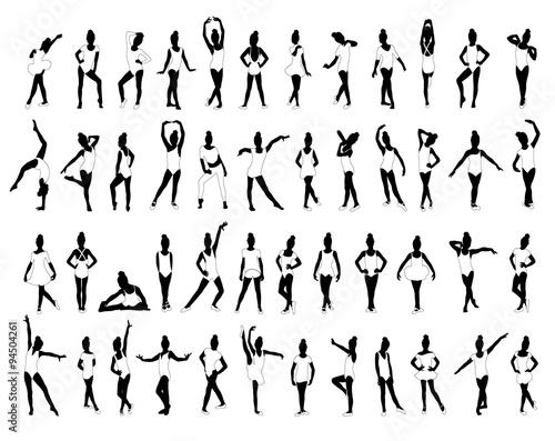 Ballet,Gymnastics,Little girls dancing,posing,sports