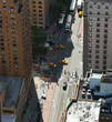 Aerial view of Manhattan streets