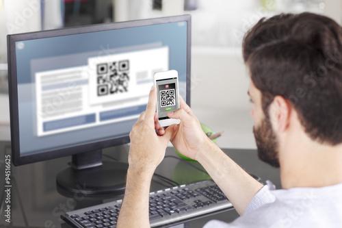 Valokuva  Scanning QR Code