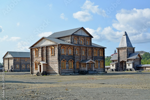 Fotografie, Obraz  Brotherly case and gate of the Sacred and Troitsk Trifonov-Peche